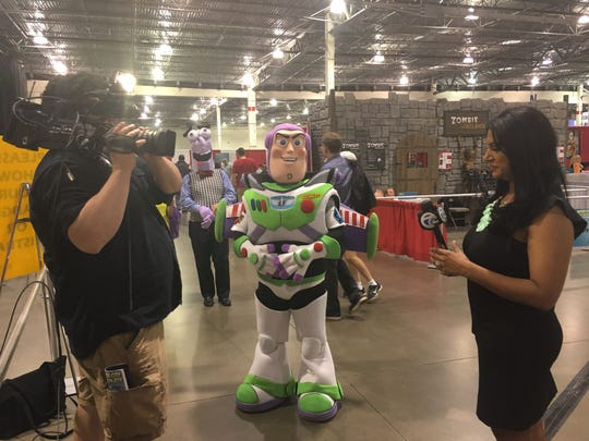 "Even Buzz Lightyear from ""Toy Story"" got in on the Motor City Comic Con act last year."