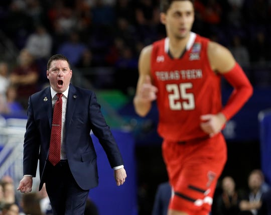 Chris Beard has a 76-31 record in three seasons as Texas Tech head coach.