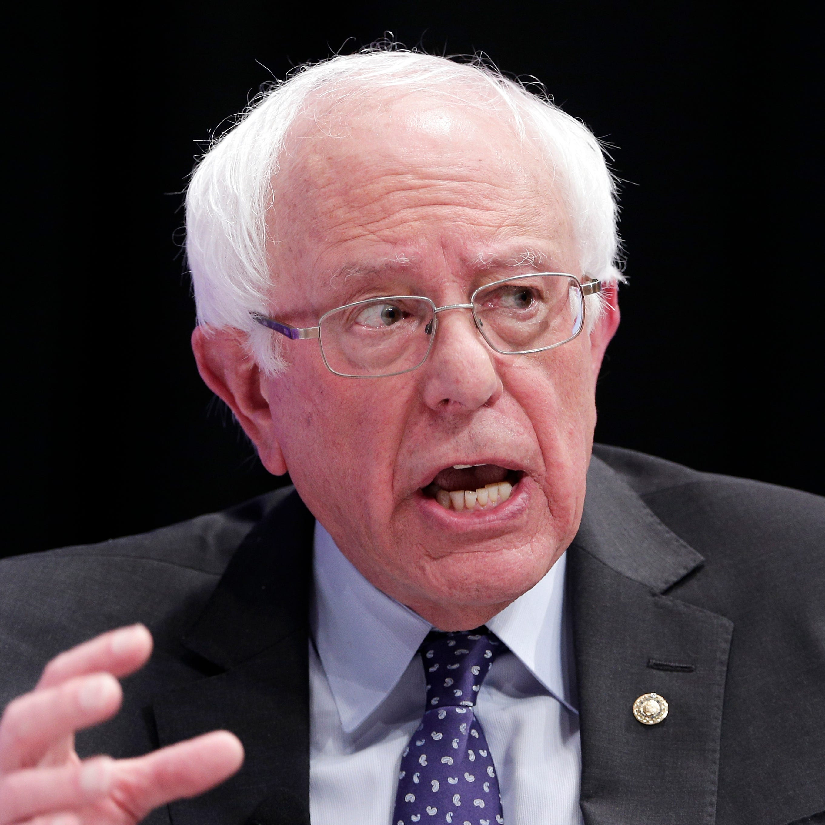 Bernie Sanders zeros in on Joe Biden as his favorite foil