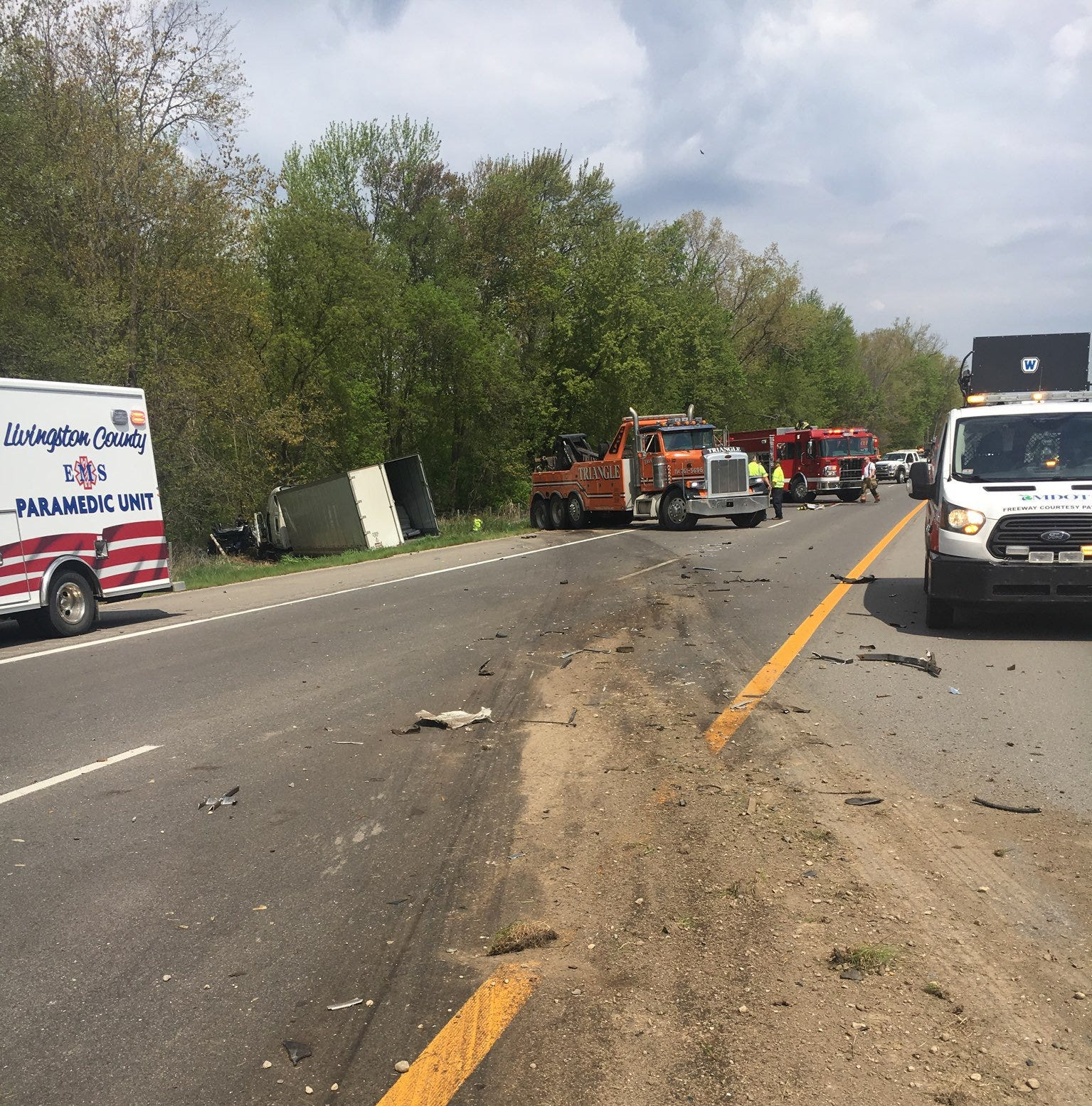 Police: Multiple crashes close US-23 in Washtenaw County