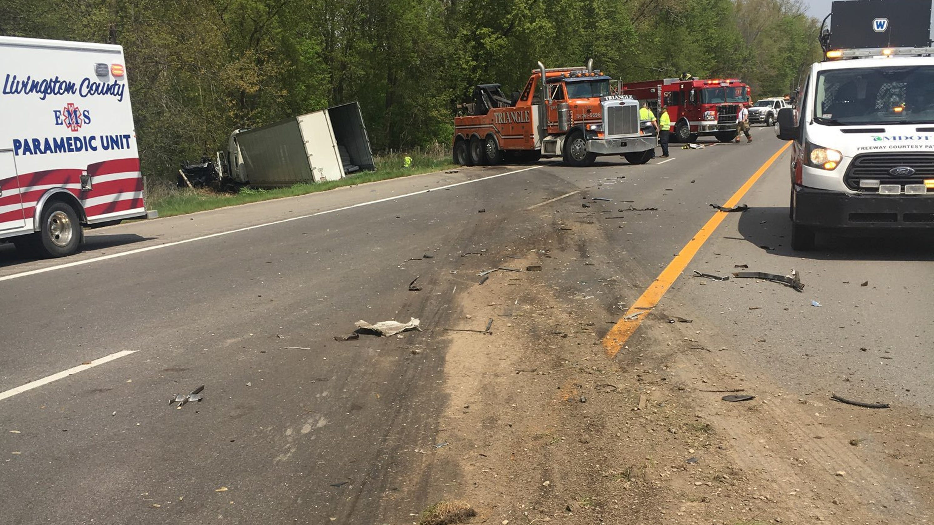 Police: Semi Truck Driver In US-23 Crash 'possibly Fell