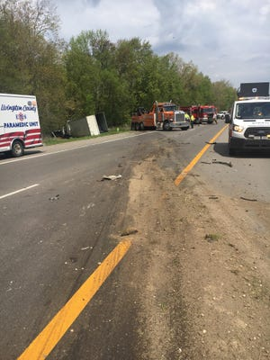A major crash on US-23 closed traffic on both sides of the freeway Wednesday morning.