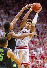 Former Indiana standoutRomeo Langford (0) could be an option for the Pistons with the No. 15 pick in the NBA draft.