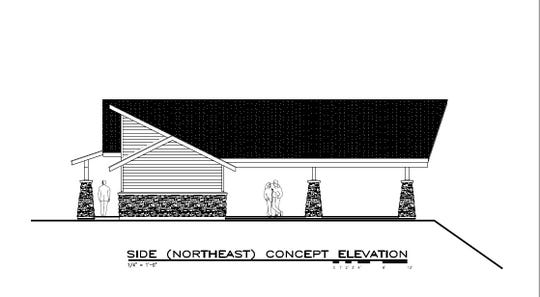 A design concept show the new picnic shelter with 4-season restrooms planned for the highest outlook point at Horicon Marsh Wildlife Area. The half million dollar project is expected to open next summer.
