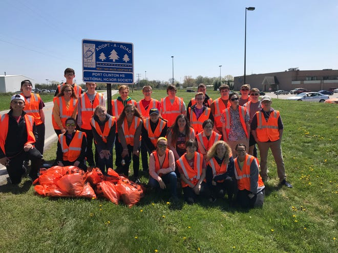 Port Clinton High School National Honor Society completed their Spring clean up along Gill Road in Port Clinton.