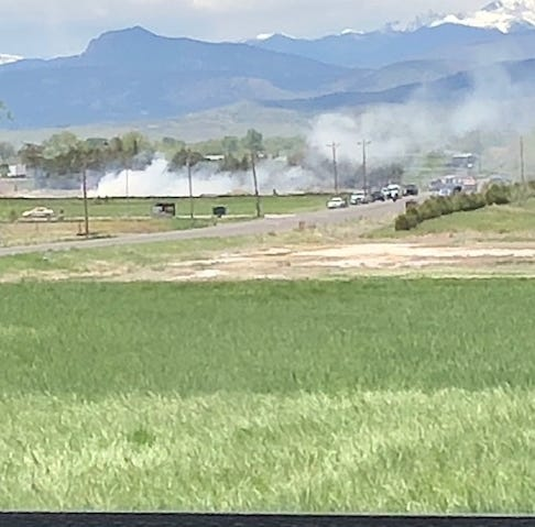 Airplane crashes north of Northern Colorado Regional Airport in Loveland
