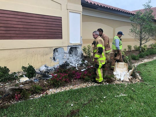 Cape Coral Fire Department's Engine 6, Rescue 6, and Battalion 1 responded to a vehicle vs. building call at A1 Shelters on Chiquita Blvd. The driver was transported to the hospital.