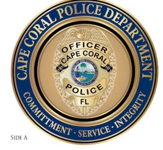 Cape Coral Police challenge coin, side A