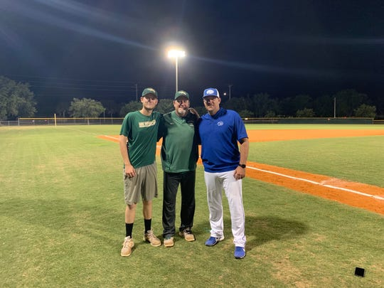 Jacob Eyre, Scott Eyre, and Willie Eyre were reunited on the diamond Tuesday evening as they squared off against one another in the 3A regional semifinal contest, where Canterbury won, 2-1.