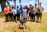 University of Guam and NASA researchers turn to high flying drones to map undersea coral reefs of Piti and Tumon.