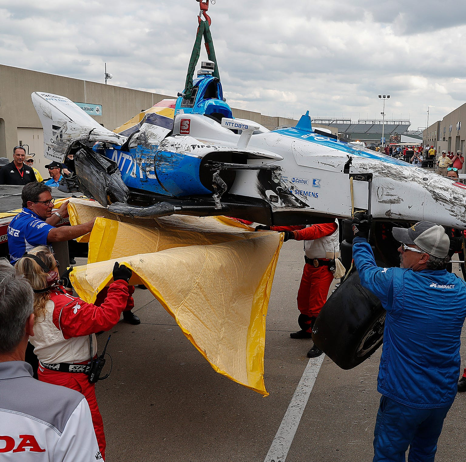 Indy 500 2019: Felix Rosenqvist is second driver to crash in practice