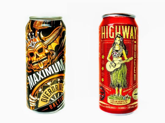 "Maximum Overdrive, left, and Highway Queen, are two beers in Sun King Brewing's ""10-4 Good Buddy"" anniversary release."