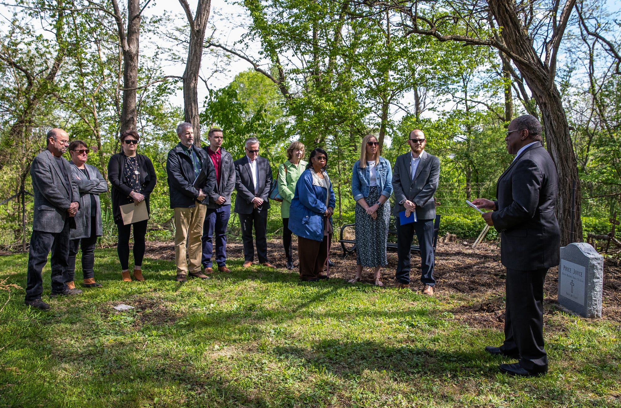 Indiana family holds memorial for former family slave said to be freed in the 1830s
