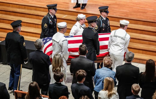 Image result for sam nunn at lugar's funeral