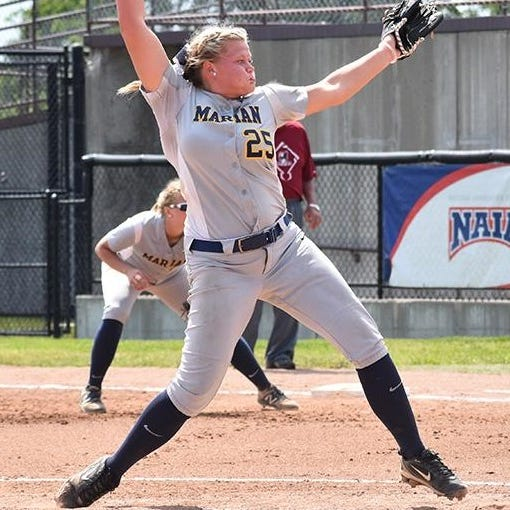 Marian softball phenom throws no-hitter, 3-hit shutout, headed to World Series