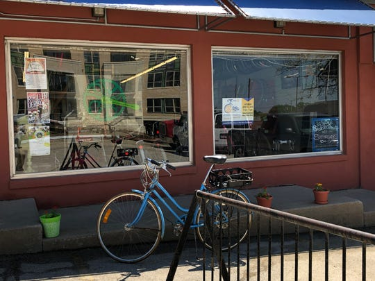 The Iowa City Bike Library located at 700 S Dubuque St.