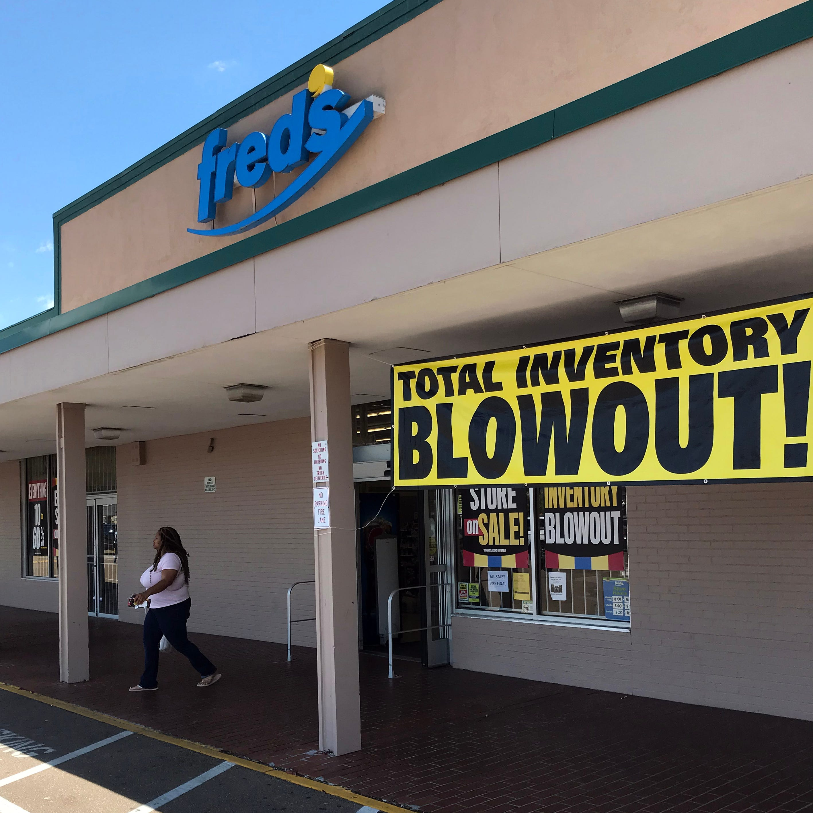 More Fred's stores closing: Deep discounts offered. Even fixtures for sale.