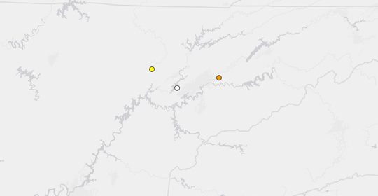 Earthquake in Mascot, Tennessee