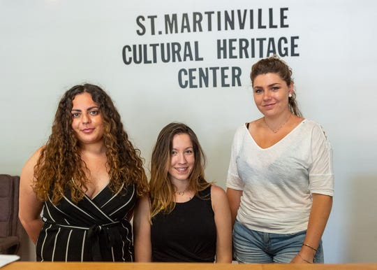 Sahra Benlama, Marina Misic and Elodie Bontemps are from France working as Interns with St. Martinville Tourism. Wednesday, May 15, 2019.