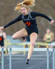 Brighton's Kennedy Smith leads the county in the 300 hurdles and is on two top-ranked relay teams.