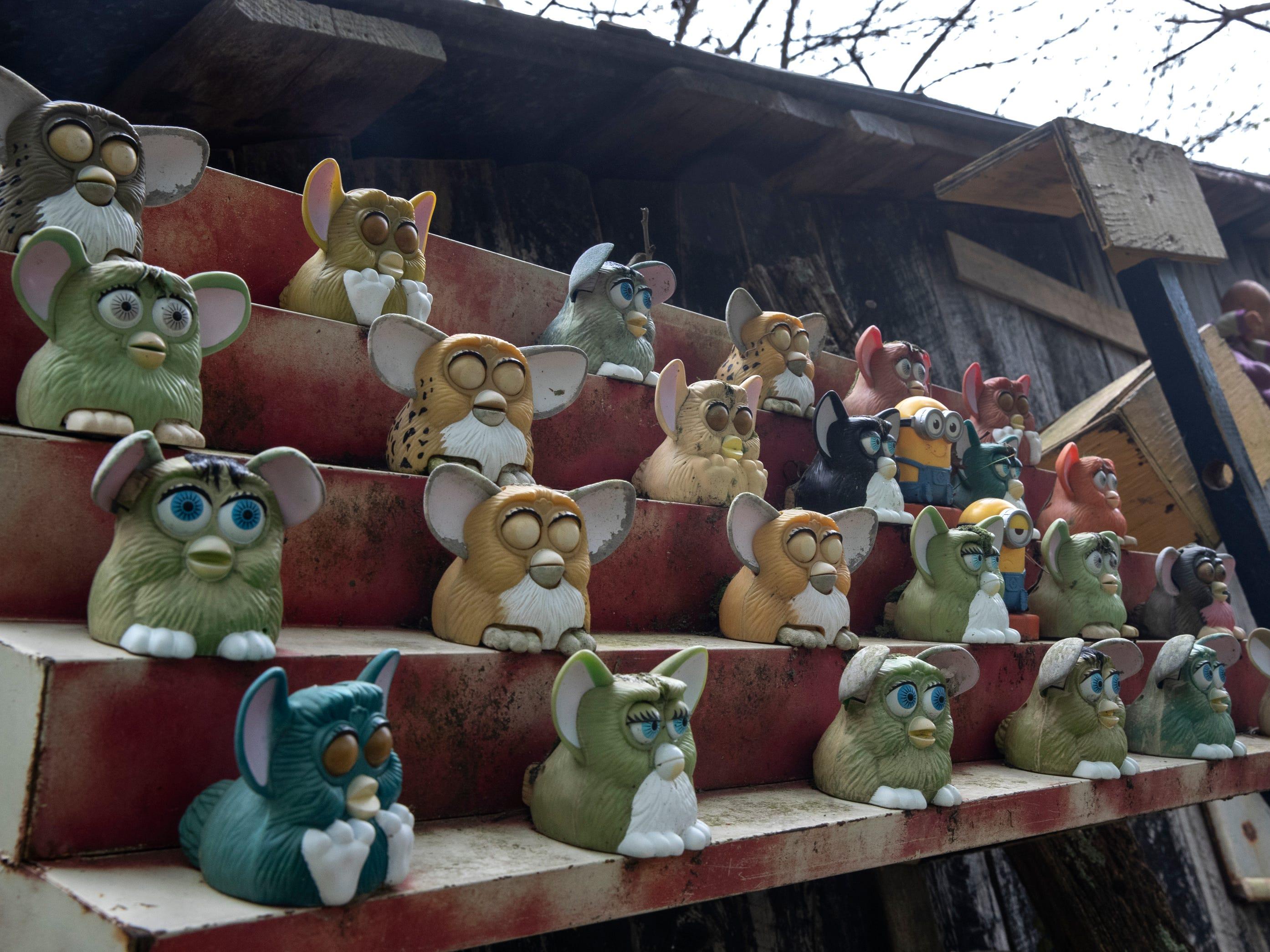 Unwanted Furbys find refuge at the Home for Wayward Babydolls. April 19, 2019.