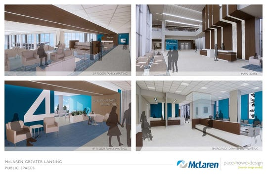 The sleek designs will be apparent in all areas of the new hospital.