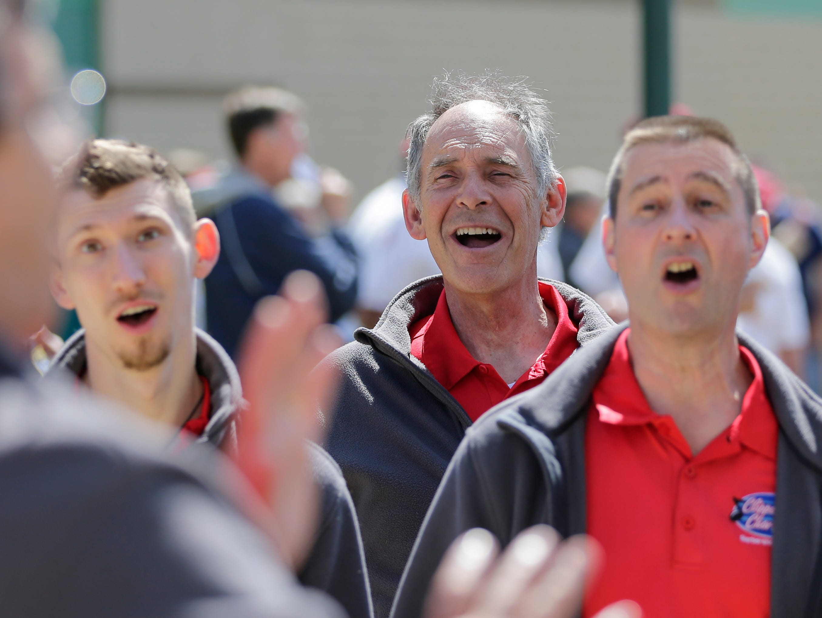 The Clipper City Chordsmen sing during the Manitowoc County Peace Officer Memorial Service Wednesday, May 15, 2019, in Manitowoc, Wis. Joshua Clark/USA TODAY NETWORK-Wisconsin