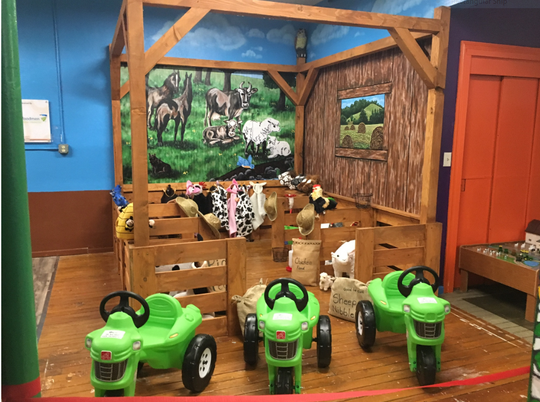 The new Malabar Farm Foundation exhibit at the Little Buckeye Children's Museum downtown Mansfield.