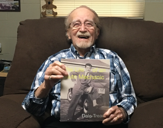 "Mansfield veteran Dale Treace has written a book called ""The Life of an Auto Mechanic."" A book signing will be held from 10 a.m. to 2 p.m. May 25 at Liberty Nursing Home on Lexington Avenue."