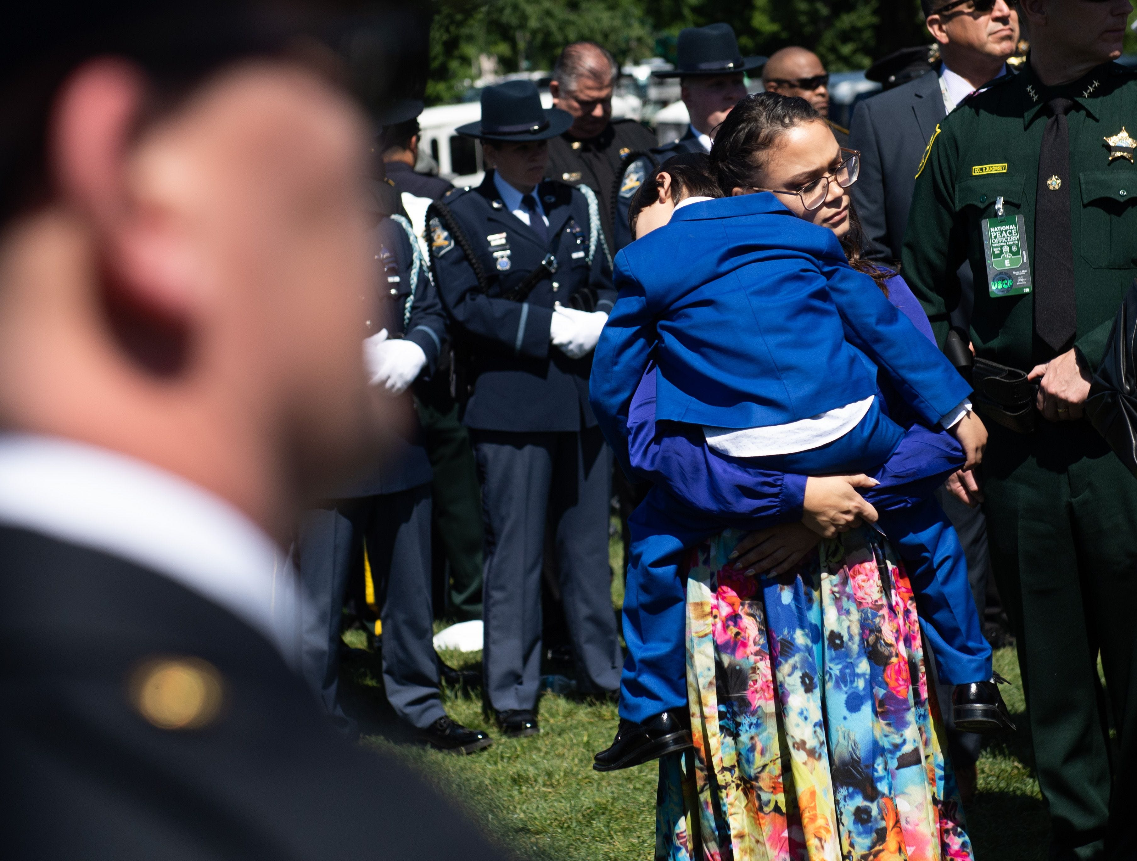 Family members and friends of law enforcement officers killed in the line of duty arrive at the 38th Annual National Peace Officers'  Memorial Service honoring law enforcement officers who were killed in the line of duty.