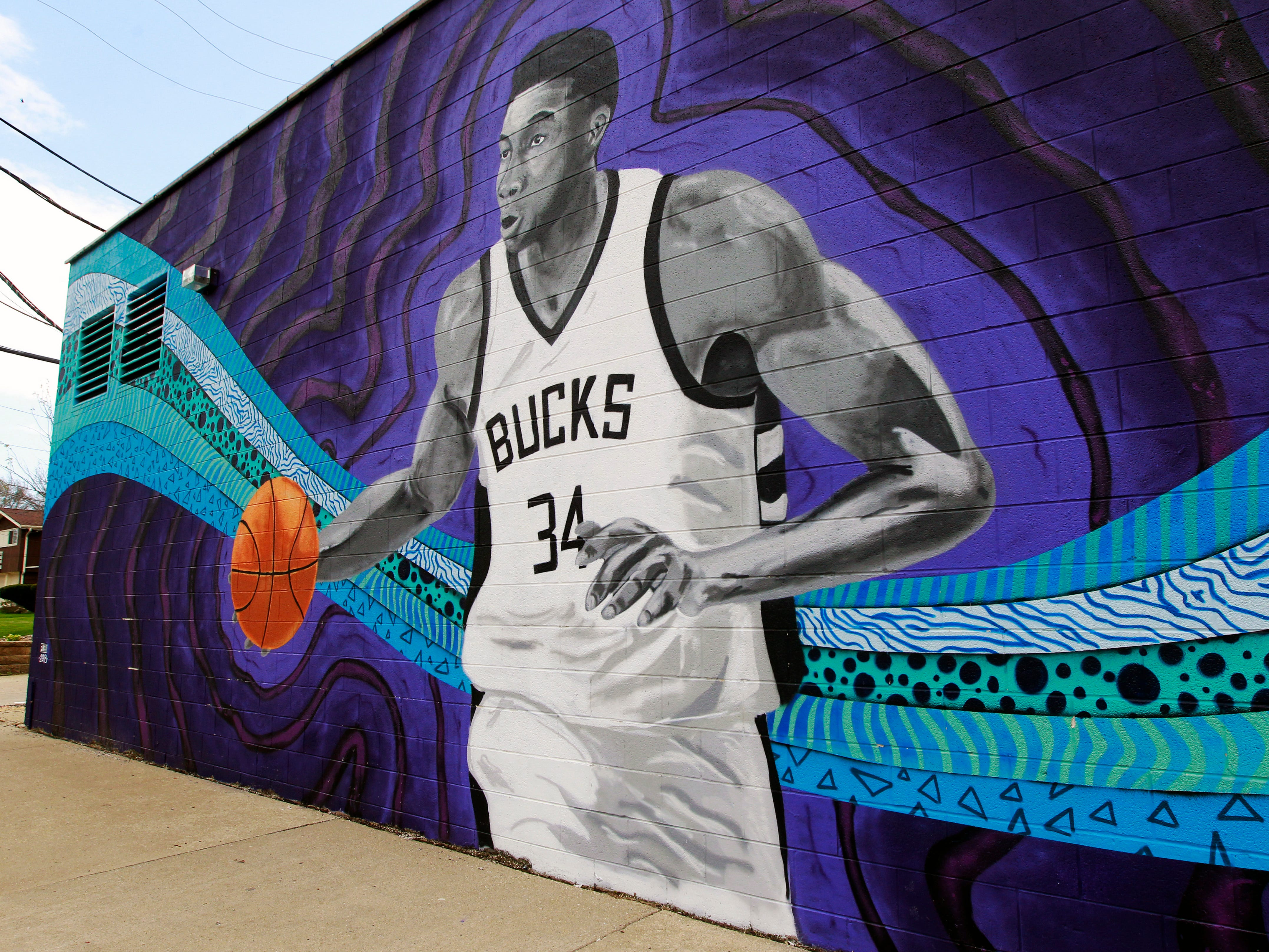 This mural of Giannis Antetokounmpo is at 3600 S. Clement Ave.