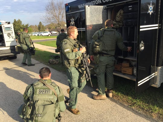A Level A SWAT team was called in to assist with controlling an active shooter situation in the village of Germantown Wednesday, May 14.
