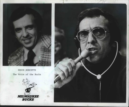 Eddie Doucette brought color to the broadcasts of early-1970's Milwaukee Bucks games.