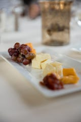 A cheese plate is a tasty starter at Lola's on the Lake at The Osthoff Resort in Elkhart Lake.
