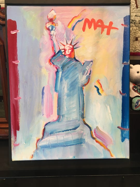 Famed artist Peter Max has once again painted the Statue of Liberty. This one for the new Statue of Liberty Museum opening May 16 on Liberty Island.