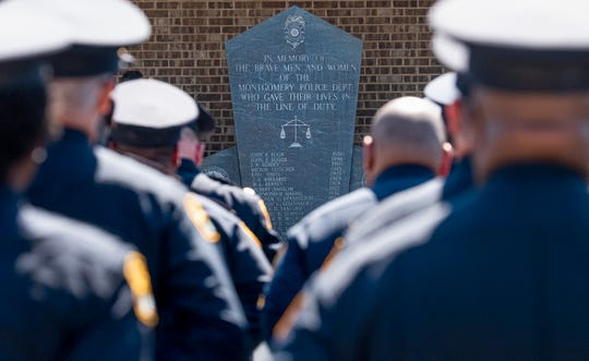 The 2019 Police Memorial Day Service at the Montgomery Police Department in Montgomery, Ala., on Wednesday May 15, 2019.