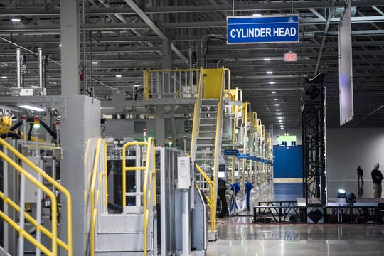 Inside the new engine plant grand opening at the Hyundai plant in Montgomery, Ala., on Wednesday, May 15, 2019.