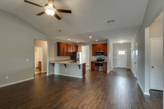 Homes built in Crooked Creek by Bruce McNeilage and Brandon Robertson have open floor plans.