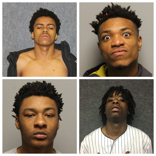 Clockwise: Jabari Moothery, Robert Goodner, D'Tarious Watkins, Anthony Williams.