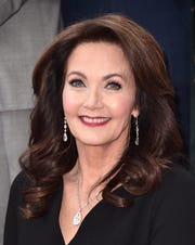 HOLLYWOOD, CA - Lynda Carter attends a ceremony honoring her with the 2,632nd star on the Hollywood Walk of Fame on April 3, 2018, in Hollywood, California.