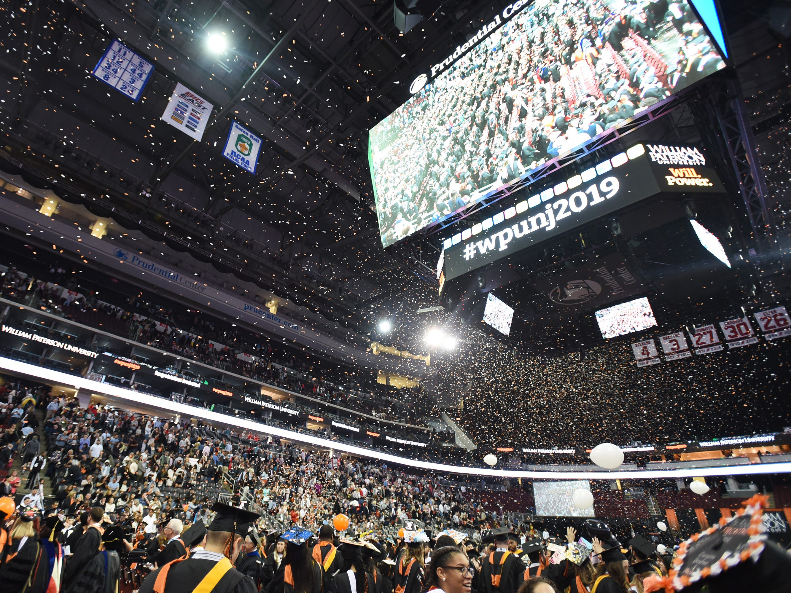 during the William Paterson University 2019 Commencement at the Prudential Center in Newark on 05/15/19.