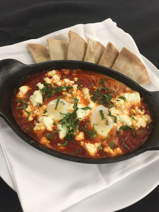 North African Shakshuka dish for brunch at The Hill, Closter
