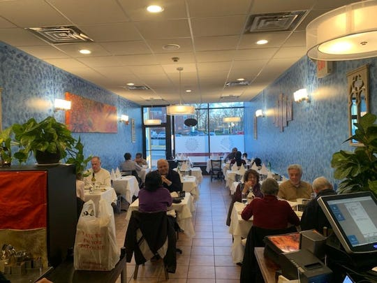 The dining room of new Indian restaurant Rudra in Teaneck