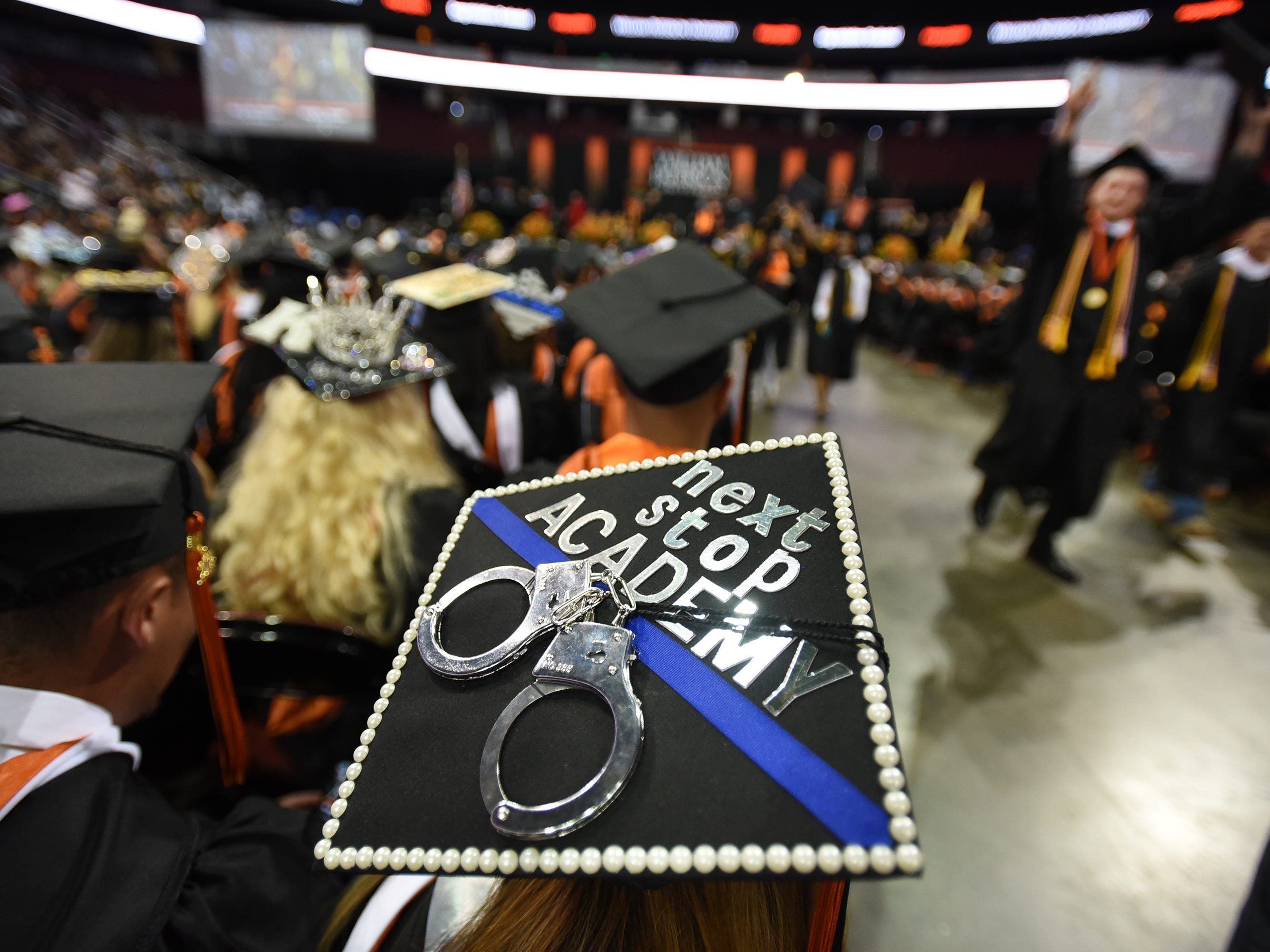Close up photo of graduate's hat during the William Paterson University 2019 Commencement at the Prudential Center in Newark on 05/15/19.