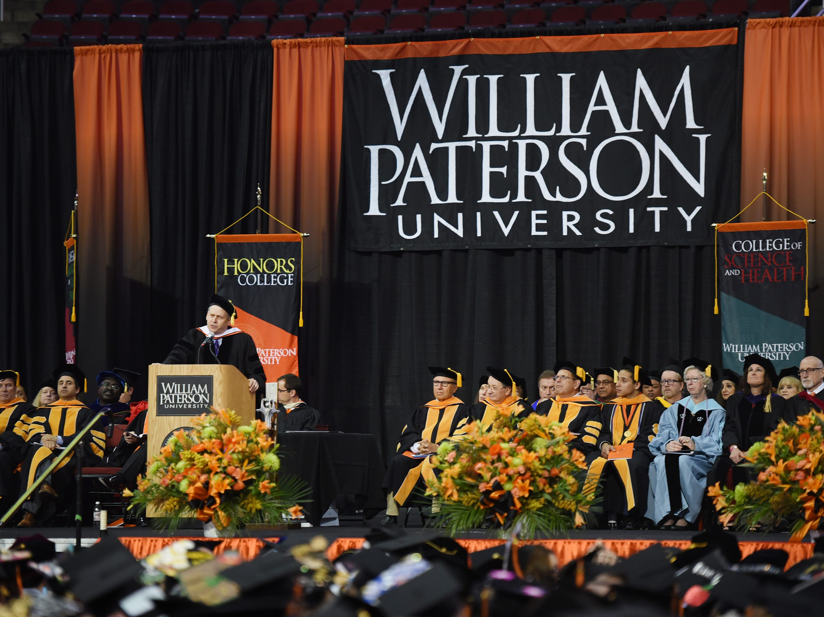 Keynote Speaker, Jonathan Alter, Author and Columnist,  gives a Commencement Address during the William Paterson University 2019 Commencement at the Prudential Center in Newark on 05/15/19.