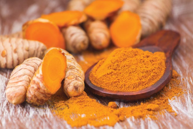 Turmeric is high in antioxidants and promotes pain relief.