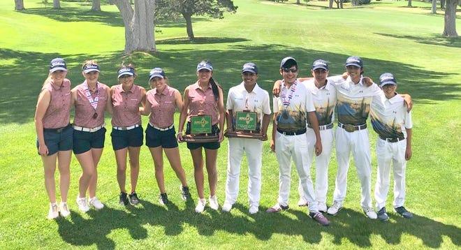 Deming High golfers at the Canyon Club golf course in Albuquerque. From left, Dezi Stockton, Presley Jackson, Jayden Galindo, Kamryn Zachek, Mona Magana, Jordan Caballero, Nemo Perales, Johnny Contreras, Chip Rogers and Vari Mariscal.