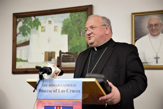 Bishop Peter Baldacchino has been named as the new bishop of the Diocese of Las Cruces. He appeared before the media on May 15, 2019.