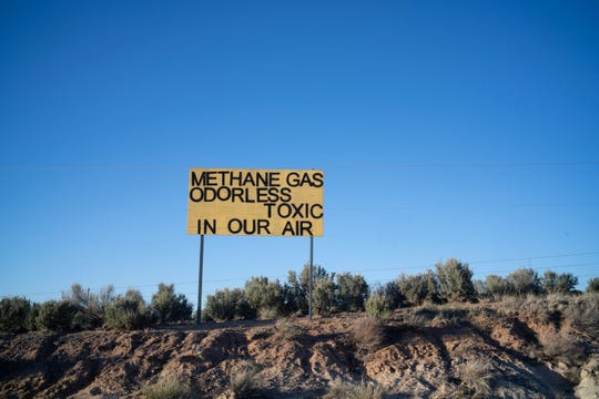 A sign on US 550 near Counselor spells out a fear many residents have.