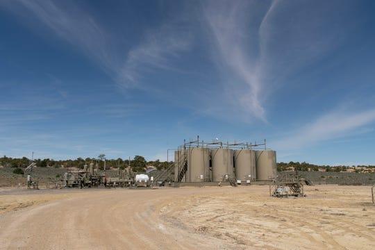 An oil facility on BLM land near Counselor.